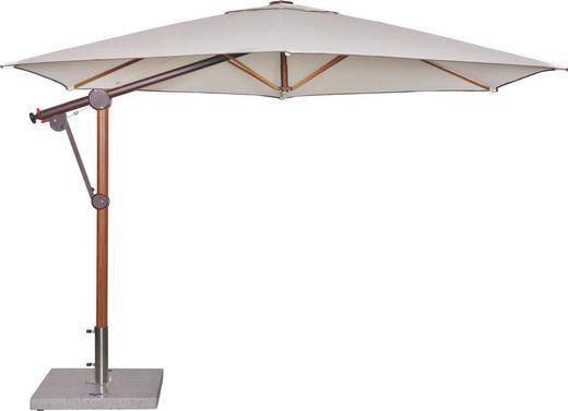 AMPELSCHIRM 320 cm Naturfarben - Naturfarben/Braun, KONVENTIONELL, Textil/Metall (320cm)