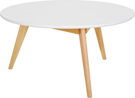 COUCHTISCH Eiche rund Eichefarben, Weiß - Eichefarben/Weiß, LIFESTYLE, Holz (90/45cm) - Ambia Home