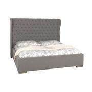 ČALOUNĚNÁ POSTEL, 180 cm  x 200 cm, textil, šedá - šedá, Trend, textil (180/200cm) - Ambia Home