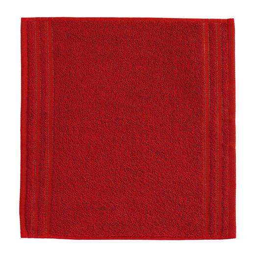 SEIFTUCH  Rot - Rot, Basics, Textil (30/30cm) - Vossen