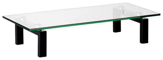 TV-AUFSATZ  Glas, Metall  Schwarz - Schwarz, Basics, Glas/Metall (60/12,5/28cm)