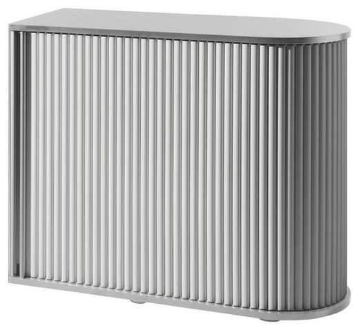 SCHRANK - Silberfarben/Weiß, KONVENTIONELL, Holzwerkstoff/Kunststoff (100/80/50cm)