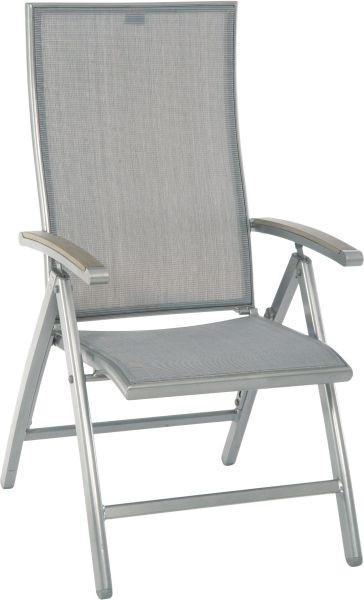 GARTENKLAPPSESSEL Polywood® Aluminium Graphitfarben, Grau - Graphitfarben/Grau, Design, Kunststoff/Textil (59/108/72cm) - Stern
