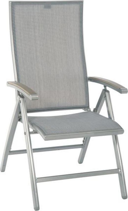 GARTENKLAPPSESSEL Polywood® Aluminium Graphitfarben, Grau - Graphitfarben/Grau, Design, Kunststoff/Textil (71/107,5/59cm) - Stern
