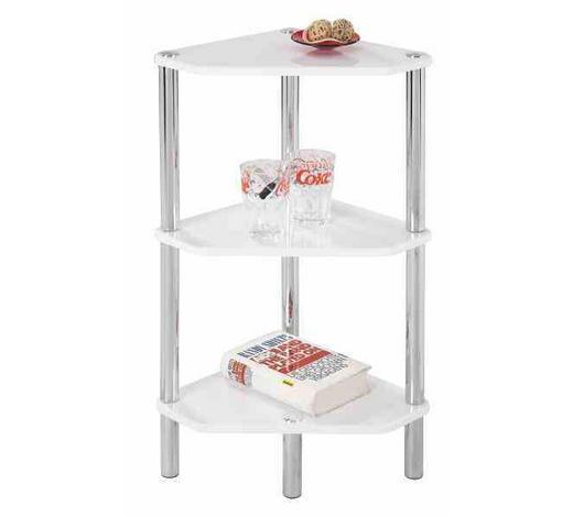 REGAL KUTNI bijela  metal, drvni materijal  - bijela/boje kroma, Design, drvni materijal/metal (46/77/32cm) - Boxxx