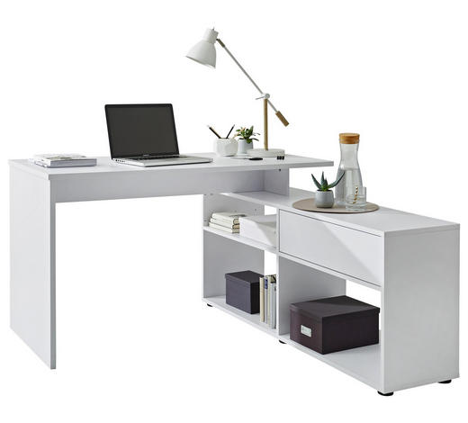 Schreibtisch In Weiß Mit Regal Online Entdecken