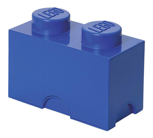 AUFBEWAHRUNGSBOX 25/12,5/18 cm - Blau, Trend, Kunststoff (25/12,5/18cm) - Lego