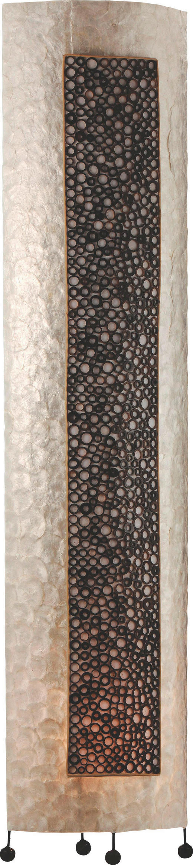 GOLVLAMPA - svart, Lifestyle, metall/ytterligare naturmaterial (150cm)