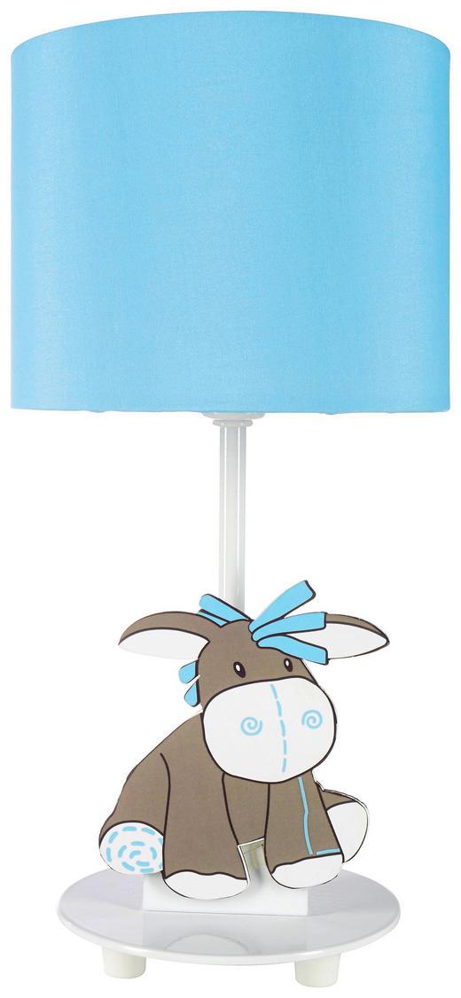 OTROŠKA NAMIZNA LED SVETILKA - modra/bela, Trendi, kovina/tekstil (15/31cm) - MY BABY LOU