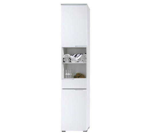 VISOKA OMARA 40/199/32 cm  - aluminij/bela, Design, leseni material (40/199/32cm) - Xora