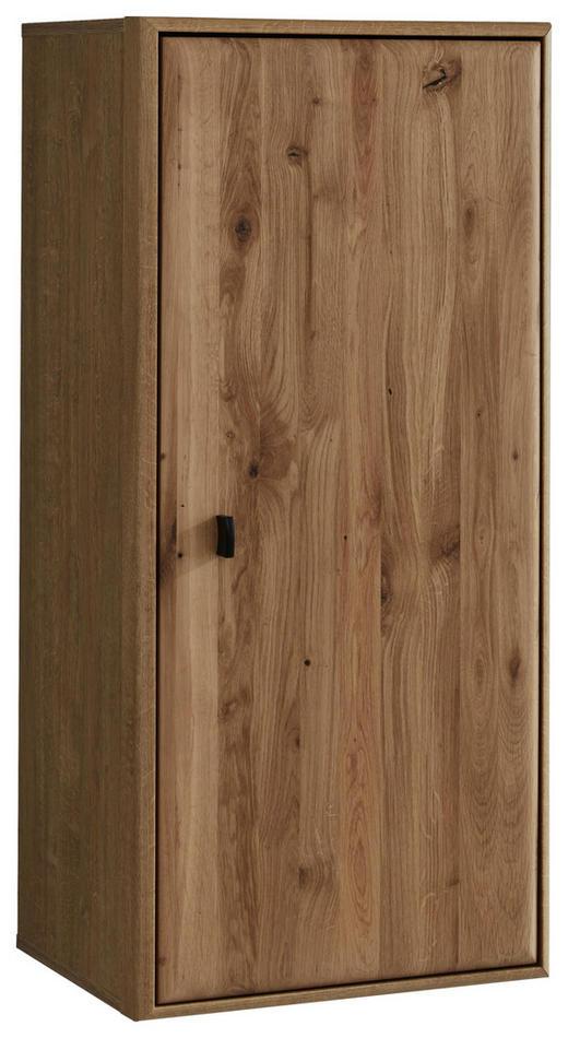 HÄNGEELEMENT Eiche massiv Eichefarben - Eichefarben/Schwarz, KONVENTIONELL, Holz/Holzwerkstoff (49/104/38cm) - Cantus