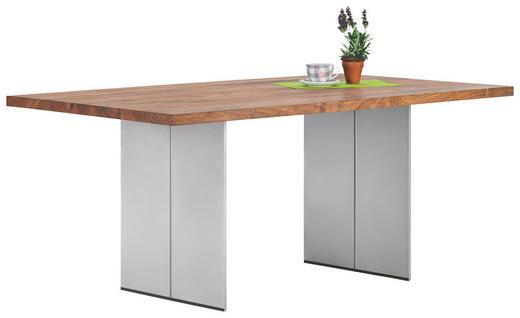 ESSTISCH Astnuss massiv rechteckig Nussbaumfarben - Nussbaumfarben, Design, Holz/Metall (180/100/77cm) - MUSTERRING
