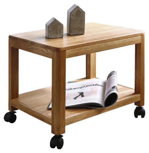 ALLZWECKWAGEN Holz Wildeiche vollmassiv Eichefarben - Eichefarben, Design, Holz (50/40/40cm) - Carryhome