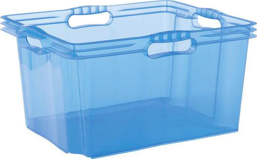 BOX Kunststoff Blau - Blau, Design, Kunststoff (43/23/35cm) - Carryhome