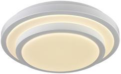 LED-DECKENLEUCHTE   - Weiß, Basics, Kunststoff/Metall (40/9cm) - Novel