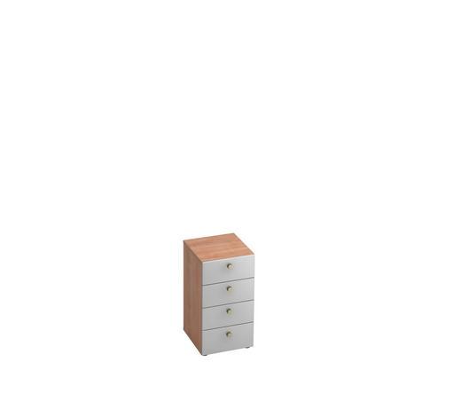 ANSTELLCONTAINER - Silberfarben/Nussbaumfarben, KONVENTIONELL, Holzwerkstoff/Metall (40/74,8/42cm)