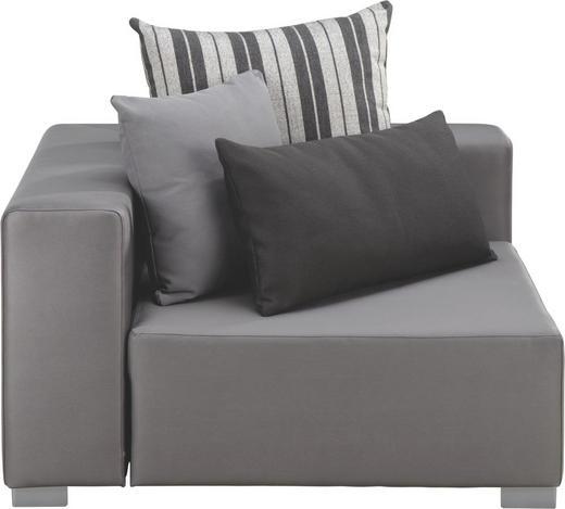 LOUNGEECKTEIL - Edelstahlfarben/Anthrazit, Design, Textil/Metall (110/65/110cm)