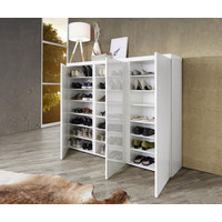 SCHUHSCHRANK - Weiß, Design, Holzwerkstoff (144/120/35cm) - Xora