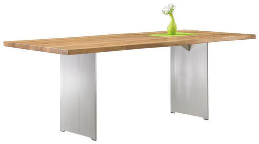 ESSTISCH Wildeiche massiv rechteckig Eichefarben - Eichefarben, Design, Holz/Metall (220/100/77cm) - Escando Modern Wo