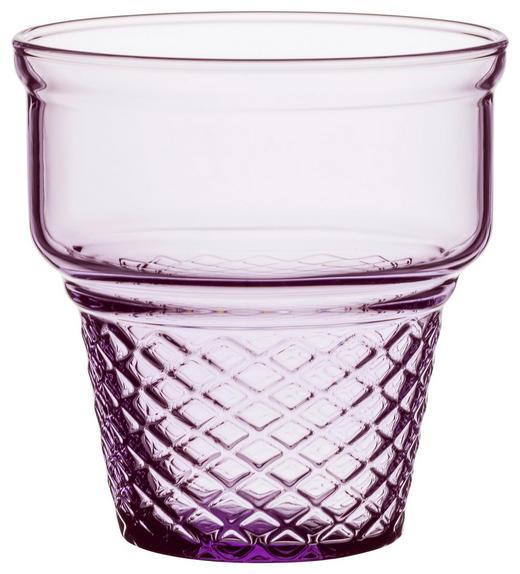 DESSERTGLAS - Transparent/Violett, KONVENTIONELL, Glas (31,8/9,1/8,7cm)