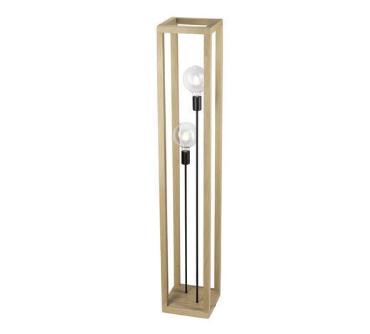 STEHLEUCHTE - Braun, LIFESTYLE, Holz/Metall (25/140/25cm)