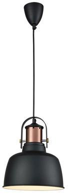 HÄNGELEUCHTE - Schwarz/Kupferfarben, Trend, Kunststoff/Metall (22/26/120cm)