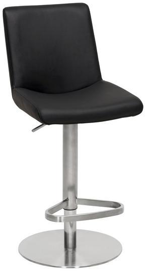 BARPALL - svart/rostfritt stål-färgad, Design, metall/textil (42,5/87,5-112,5/54,5cm) - Novel