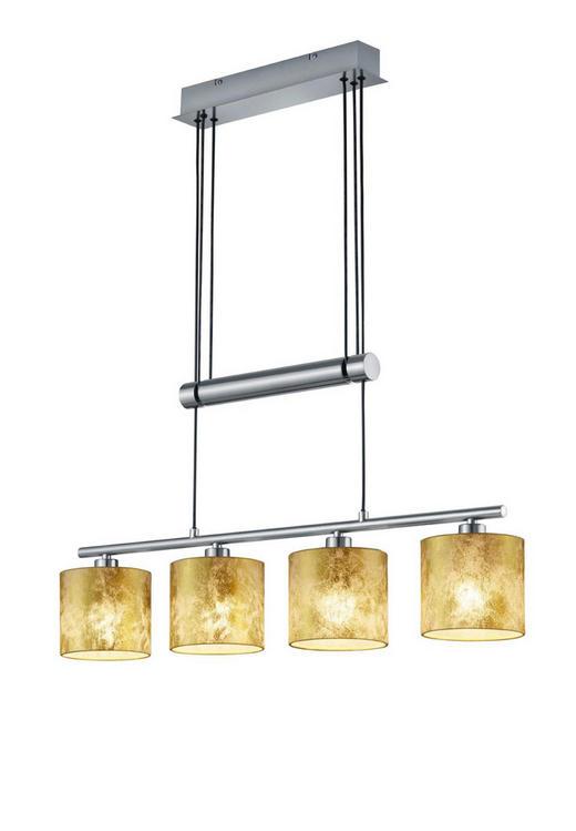 HÄNGELEUCHTE - Goldfarben/Nickelfarben, LIFESTYLE, Textil/Metall (77,0/150,0/13,5cm)