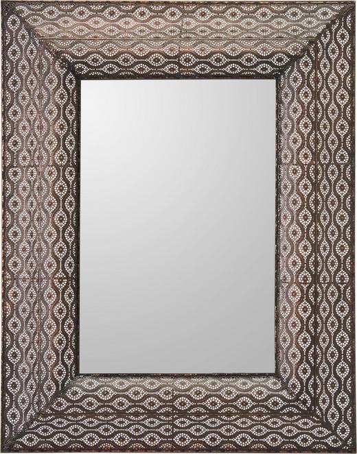 OGLEDALO, 70/90/6,5 cm kovina, steklo - rjava, Trendi, kovina/steklo (70/90/6,5cm) - Landscape