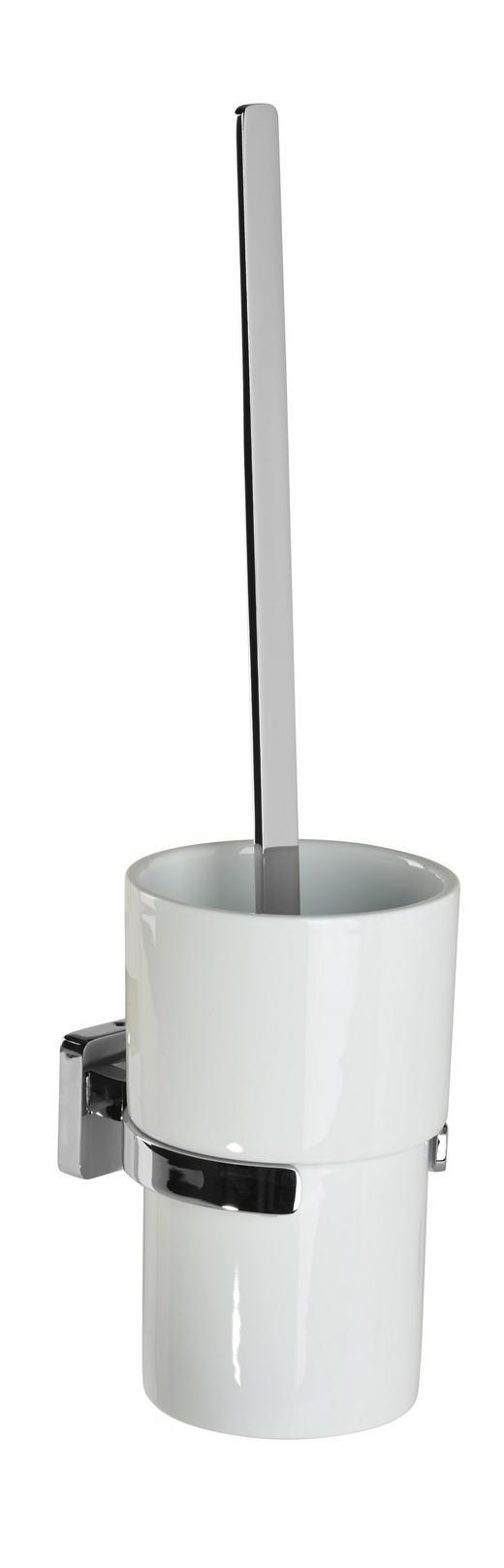 WC-BÜRSTENGARNITUR - Chromfarben/Weiß, Basics, Keramik/Kunststoff (11/39,40cm)