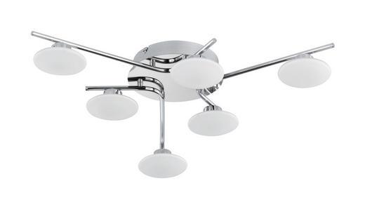 LED-DECKENLEUCHTE - Nickelfarben, Design, Glas/Metall (57/10/57cm)