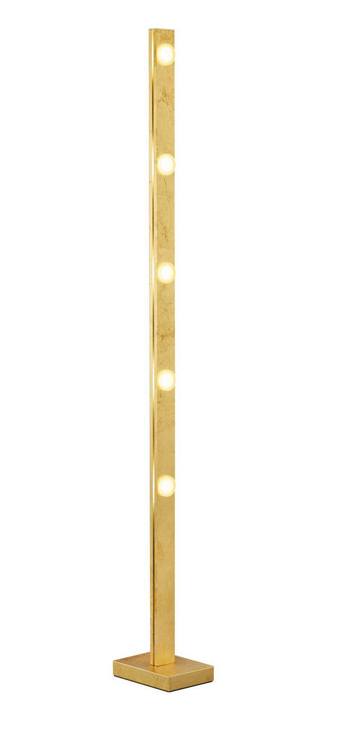 LED-STEHLEUCHTE - Goldfarben, MODERN, Metall (13/140/19cm)