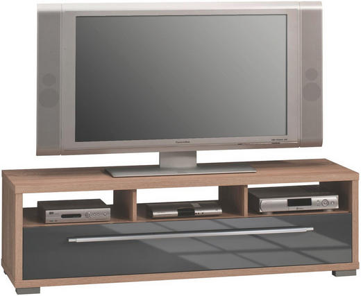 TV-ELEMENT 141/42/40 cm - Silberfarben/Alufarben, Design, Holzwerkstoff/Kunststoff (141/42/40cm)