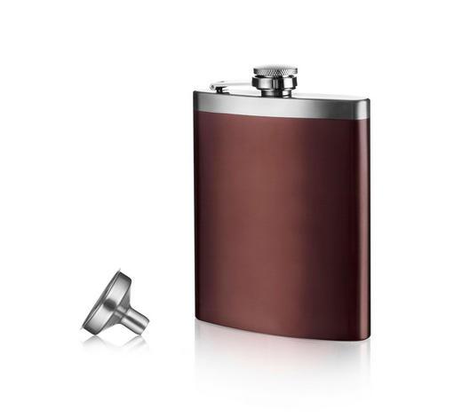 STEKLENICA ZA ALKOHOLNE PIJAČE - rjava, Konvencionalno, kovina/umetna masa (9,2/2,5/13,7cm) - Vacu Vin