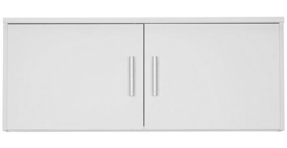 AUFSATZSCHRANK - Silberfarben/Weiß, KONVENTIONELL, Holzwerkstoff/Metall (106/43/54cm) - Xora