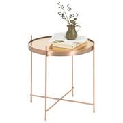 BEISTELLTISCH rund Kupferfarben - Kupferfarben, Design, Glas/Metall (43/45cm)