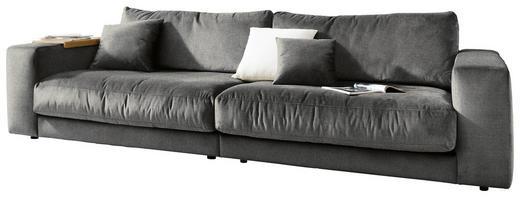 MEGASOFA Grau - Grau, Design, Textil (290/85/127cm) - Pure Home Lifestyle
