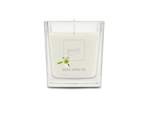 DUFTKERZE WHITE LILY - Weiß, Basics, Glas (7/7/6,3cm) - Ipuro