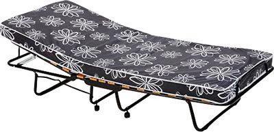 KLAPPBETT Metall, Textil 80/185 cm - Schwarz/Weiß, Design, Textil/Metall (80/185cm) - Carryhome
