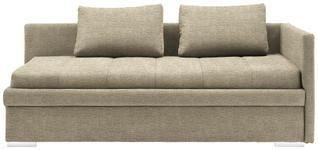 LIEGE in Textil Beige  - Chromfarben/Beige, KONVENTIONELL, Kunststoff/Textil (217/85/104cm) - Venda