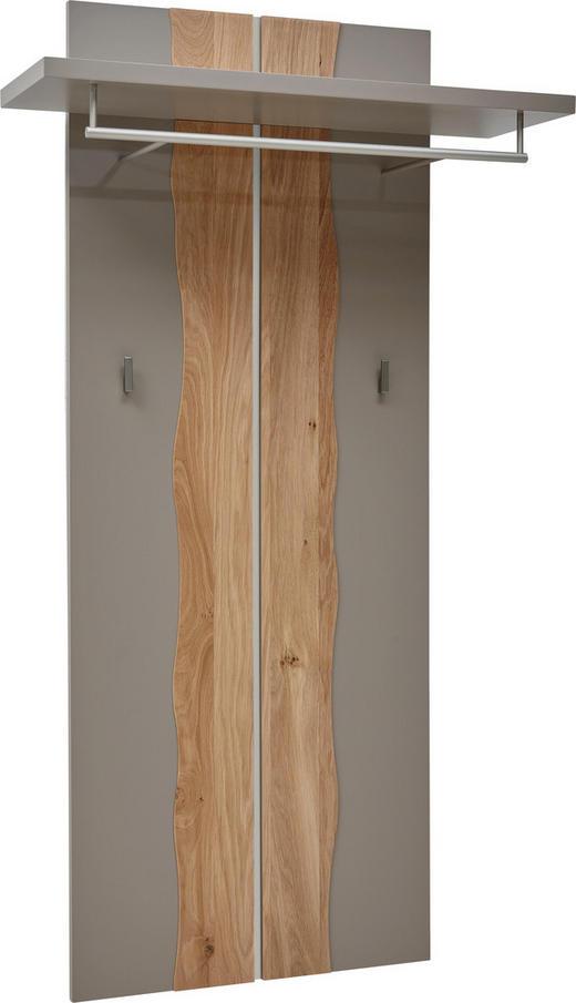 GARDEROBENPANEEL Wildeiche lackiert Fango, Naturfarben - Fango/Naturfarben, Design, Holz/Metall (62-84/155/32cm) - Dieter Knoll