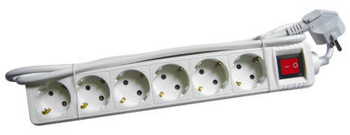 STECKDOSENLEISTE - Weiß, Basics, Kunststoff/Metall (33,3/5,5/4,3cm) - Boxxx
