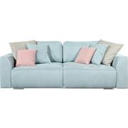 ZOFA S POSTELJNO FUNKCIJO - umazano roza/turkizna, Design, umetna masa/leseni material (250/87/129cm) - CARRYHOME