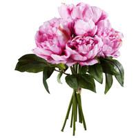 UMETNA ROŽA - zelena/pastelno roza, Trendi, umetna masa/tekstil (35cm)