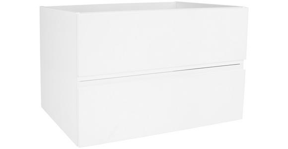Waschbecken mit Unterschrank + Soft-Close Tress II ,b: 80cm - Weiß, KONVENTIONELL, Keramik/Holzwerkstoff (80/51,5/45cm) - Luca Bessoni