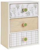 DEKORATIONSASK - vit/naturfärgad, Trend, träbaserade material (17,5/24/11,5cm) - AMBIA HOME