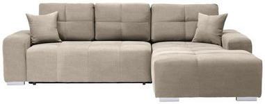WOHNLANDSCHAFT in Textil Beige  - Beige/Silberfarben, MODERN, Kunststoff/Textil (280/194cm) - Carryhome