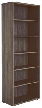 AKTENREGAL Trüffeleichefarben - Trüffeleichefarben/Schwarz, Design, Holzwerkstoff/Kunststoff (81,8/215,2/40cm) - VOLEO