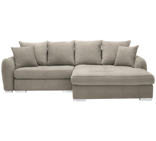 WOHNLANDSCHAFT in Textil Beige  - Chromfarben/Beige, Design, Kunststoff/Textil (275/195cm) - Carryhome