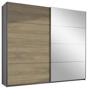 SKJUTDÖRRSGARDEROB - vit/alufärgad, Design, träbaserade material (225/210/65cm) - Carryhome